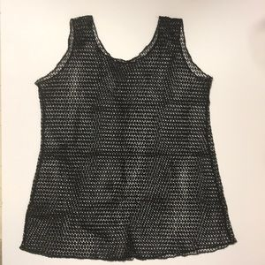 Other - Edgy Cool Fishnet Swimsuit Cover Up L/Xl